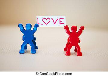 foto, pareja, concepto, amor