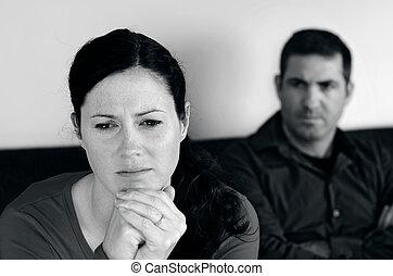 foto, pareja, concepto, -, relación