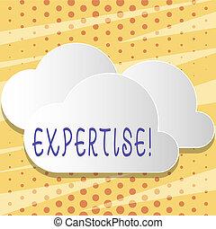foto, pluizig, meldingsbord, leeg, vaardigheid, zwevend, uit, knippen, kennis, deskundig, bovenzijde, akker, expertise., plank, tekst, conceptueel, witte , andere., het tonen, wijsheid, bijzonder, wolken, ervaring, elke, of