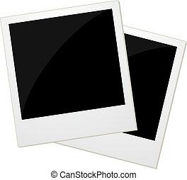 foto, polaroid, due