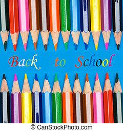 foto, scuola, concetto, ritornare