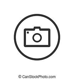 foto, sfondo bianco, icona