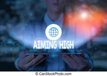 foto, showcasing, escrita, planos, negócio, ou, high., nota, ações, seu, apontar, achieve., resultado, intended, mostrando
