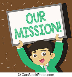 foto, sinal, escolher, em branco, nosso, sorrindo, jovem, corrente, acima, texto, mission., seu, mostrando, conceitual, metas, estudante, formulou, levantamento, claro, whiteboard, serve, futuro, head., guia, cima