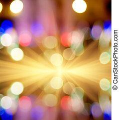 foto, starburst, Fokus, Lichter, bokeh, straße, Licht,...