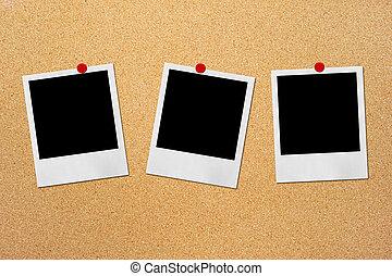 foto, tábua, fundo, cortiça