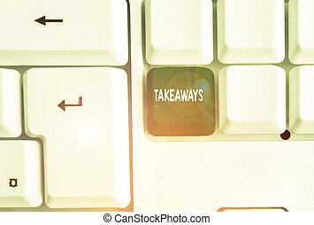 foto, tu, papel, negócio, alguém, mostrando, takeaways.,...