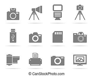 foto, un, icono