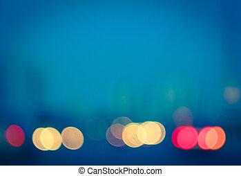 foto, van, bokeh, lichten