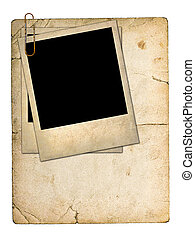 foto, vecchio, cartone, scheda