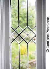 foto, venster, leaded, liggen, glas