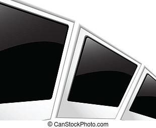 foto, vettore, polaroid, vuoto
