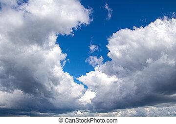 foto, von, blauer himmel, zwischen, wolkenhimmel