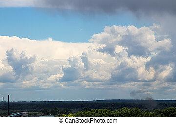 foto, von, der, blauer himmel