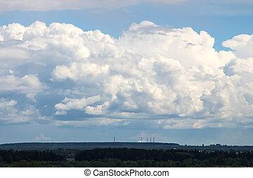 foto, von, der, sommer, blauer himmel