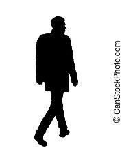 foto, weißes, freigestellt, hintergrund, mann