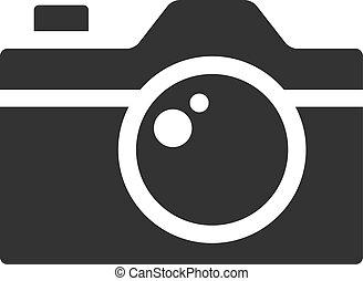 fotoapperat, -, bw, ikone