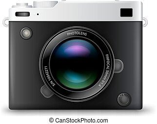 fotoapperat, vektor, ikone