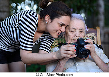 fotográfia, tanulás, nagyanyó