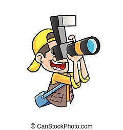 fotograaf, afbeelding nemd