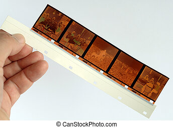 fotografía, 126, formato, rollfilm, todavía