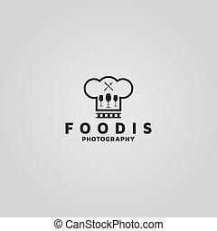 fotografía, foodies, inspiración, logotipo, vector, idea, ...