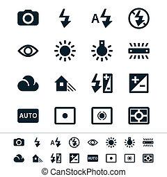 fotografía, iconos