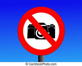 fotografía, no, señal