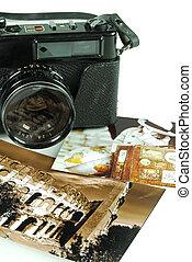 fotografía, una vez, sobre, tiempo