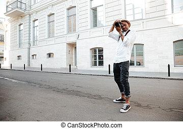 fotograf, amerikan, afro-