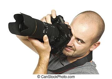 fotograf, auf, pflicht