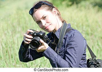 fotograf, draußen