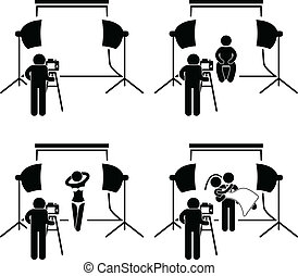 fotograf, fotografi ateljé, sho