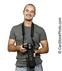 fotograf, lächeln