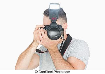 fotograf, mann, photographisch, fotoapperat