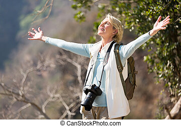 fotograf, otwarty herb, samica