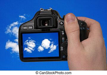 fotografi, av, den, sky