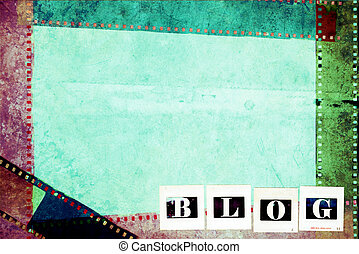 fotografi, blog, begrepp, bakgrund