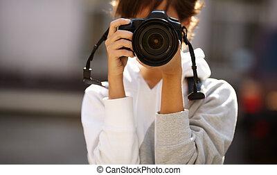 fotografi, gata