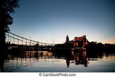 fotografi, i, den, bro