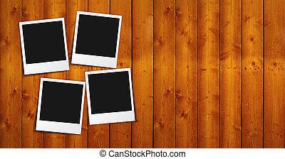 fotografi inrama, ved, tom