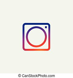 fotografi, instagram, iconerne, medier, kamera, sociale, ikon