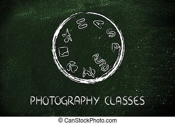fotografi, skola, kamera, visartavla, design