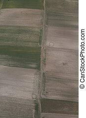 fotografia aérea, de, fields.