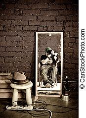 fotografia, em, estúdio