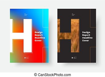 """fotografia, """"h"""", osłona, wektor, projektować, litera, afisze, lotnicy, miejsce"""