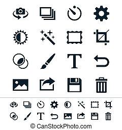fotografia, icone