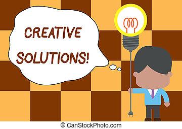 fotografia, idea, twórczy, reputacja, rozwiązywanie, pisanie, dzierżawa, tekst, konceptualny, krawat, dostęp, handlowy, startup., pokaz, ręka, bulwa, unikalny, człowiek, czop, wklęsłość, lekki, solutions., problem, oryginał