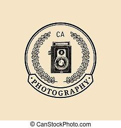 fotografia, logo.