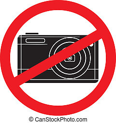 fotografia, macchina fotografica, sign-no, no